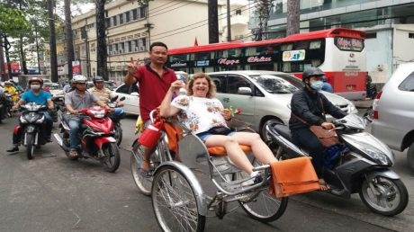 GLIMPSE OF LOCAL DAILY LIFE IN SAIGON BY CYCLE RICKSHAW